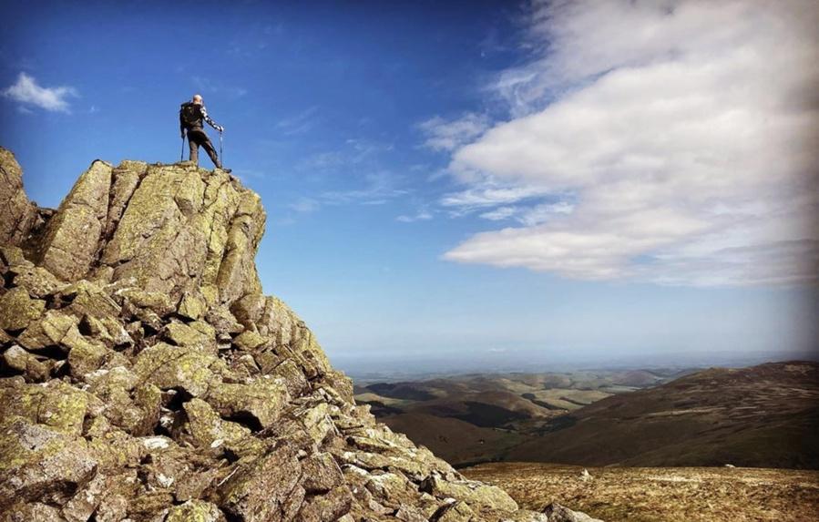The Cheviot summit, Northumberland
