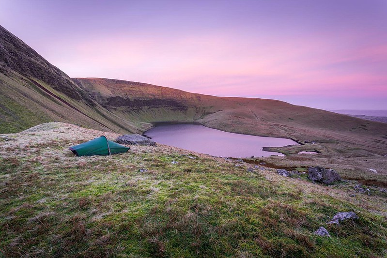 Wild Camp at Fan Fach, Black Mountain, Brecon Beacons in Wales