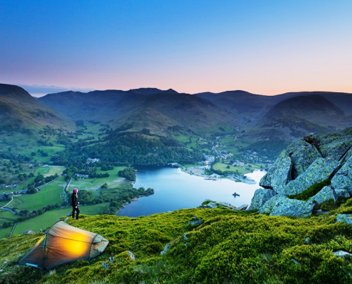 Wild camping in the Lake District - Place Fell