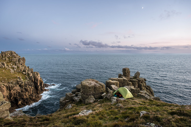 Wild Camping in Cornwall - Lizard and Lion's Den