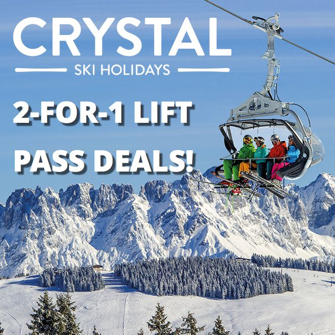 Buy 1 lift pass, get another free with Crystal Ski!