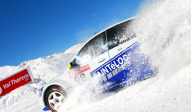 Ice Driving in Val Thorens