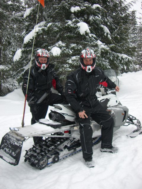 Snowmobiling in Whistler, Canada