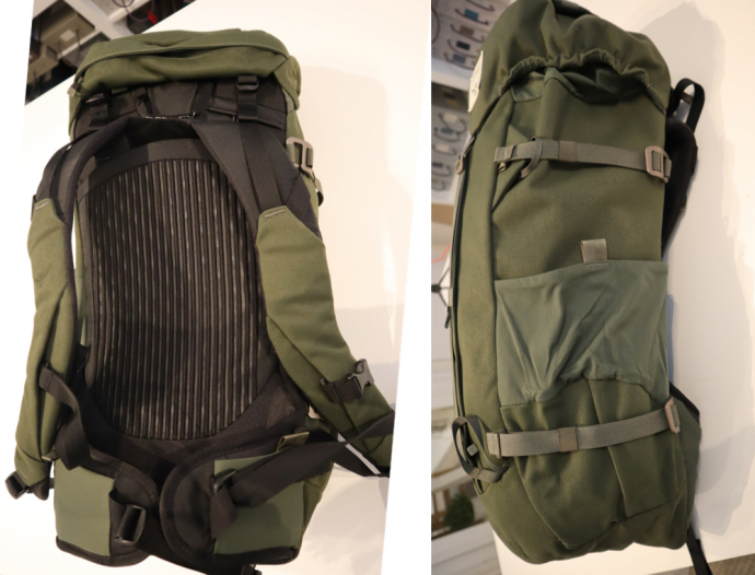 Osprey Archeon 30 - Back panel and side pocket