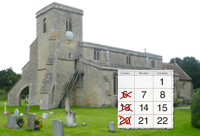 Church requirements have meant 18 Sunday's are now off the table for travel