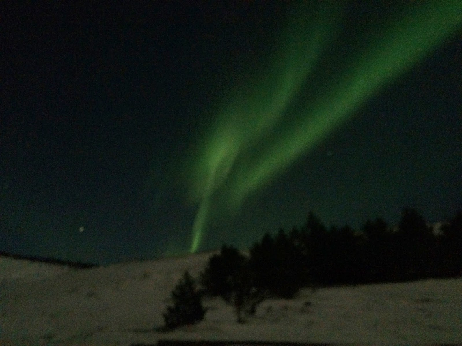 The Northern Lights - as seen with an iPhone 5S