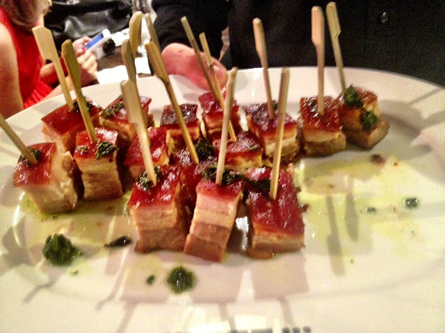 Pork belly canapés - Smiths Spitalfields