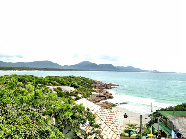 The view from Barra Beach Club Hostel, Florianopolis