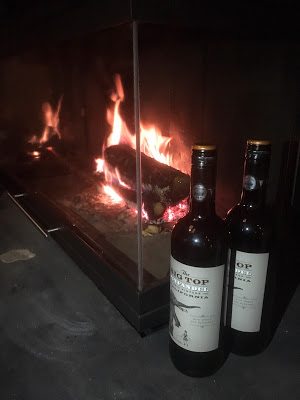 Red wine warming by the fire - Chalet Braye | Fish & Pips, Meribel Village