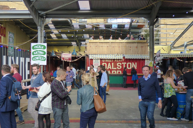 Dalston Yard, London - National Burger Day 2015