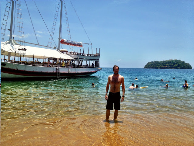 Simon at a small island near Paraty