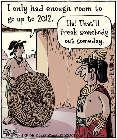 The Maya long count calendar stops on 21st December, 2012
