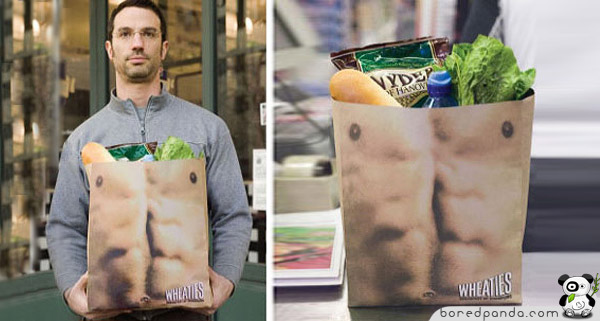 Man's muscle body Plastic Bag