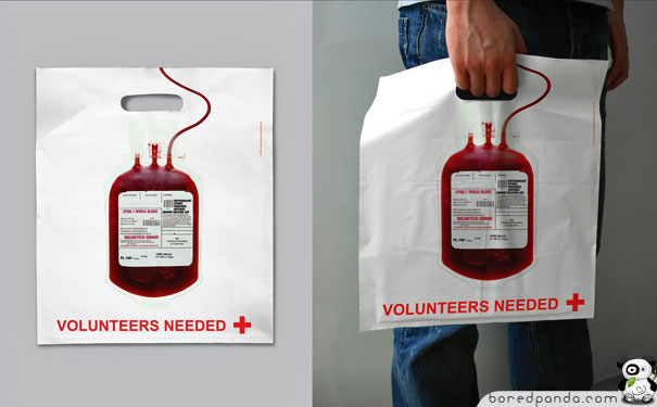 Give Blood Plastic Bag