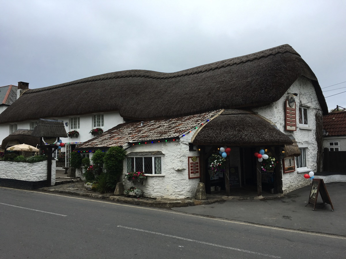 Outside the Thatch pub - Croyde, Devon