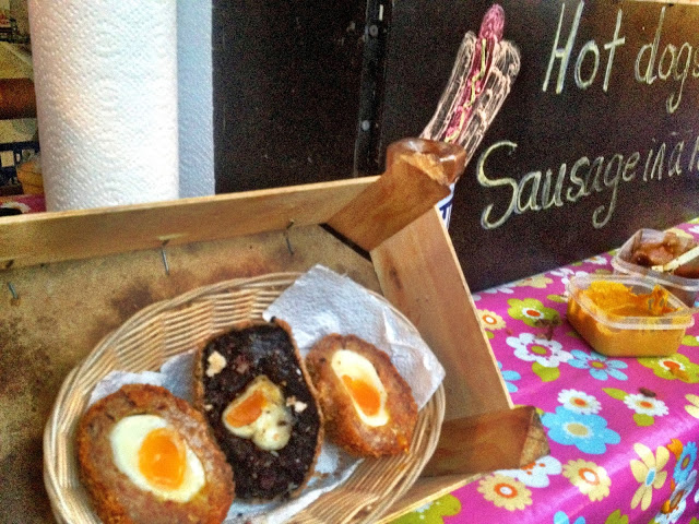 Scotch egg selection - Real Food Market, South Bank, London