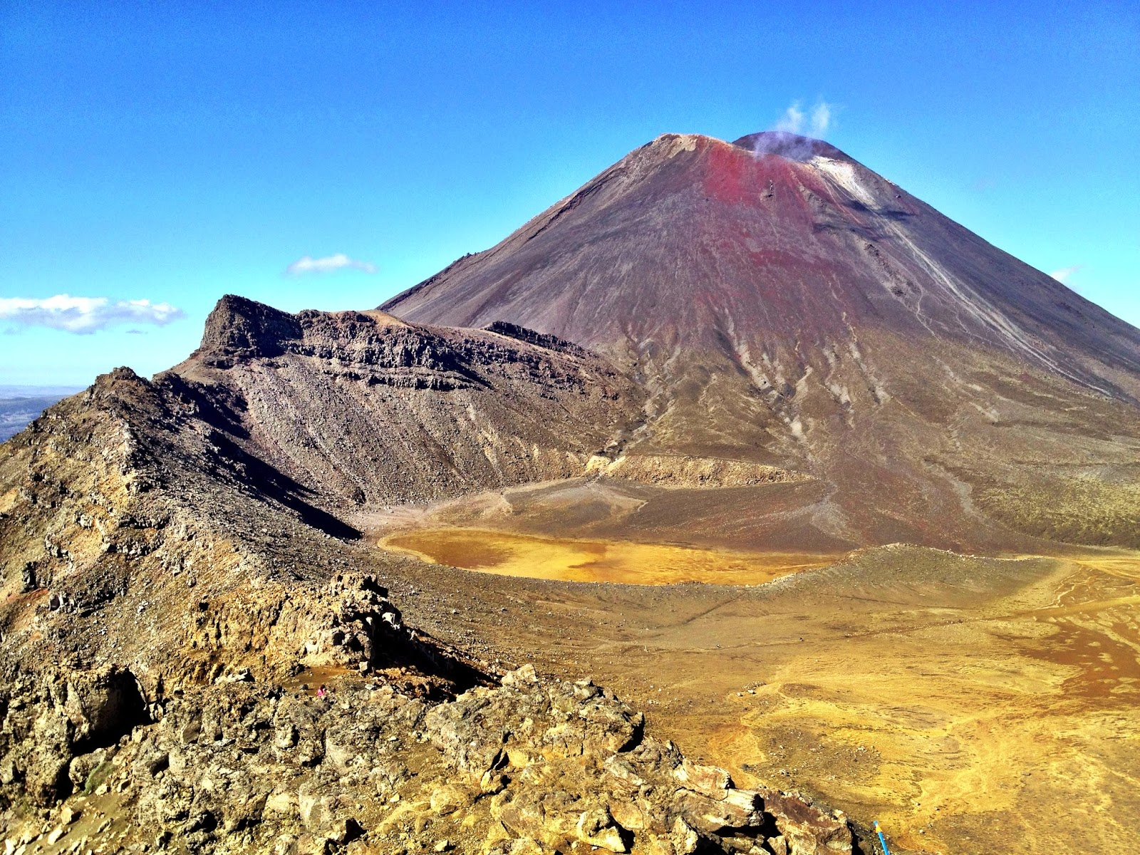 The view towards Mount Ngauruhoe from the Red Crater
