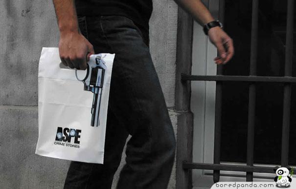 Holding gun Plastic Bag