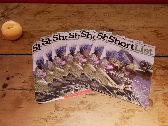 Shortlist magazines at the Mingling at the Ham Yard Hotel, Dive Bar - BA Amex event, London
