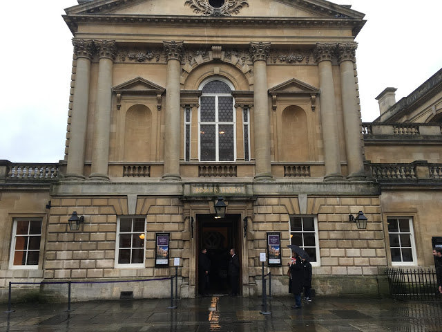 The entrance to the Roman Baths, Bath