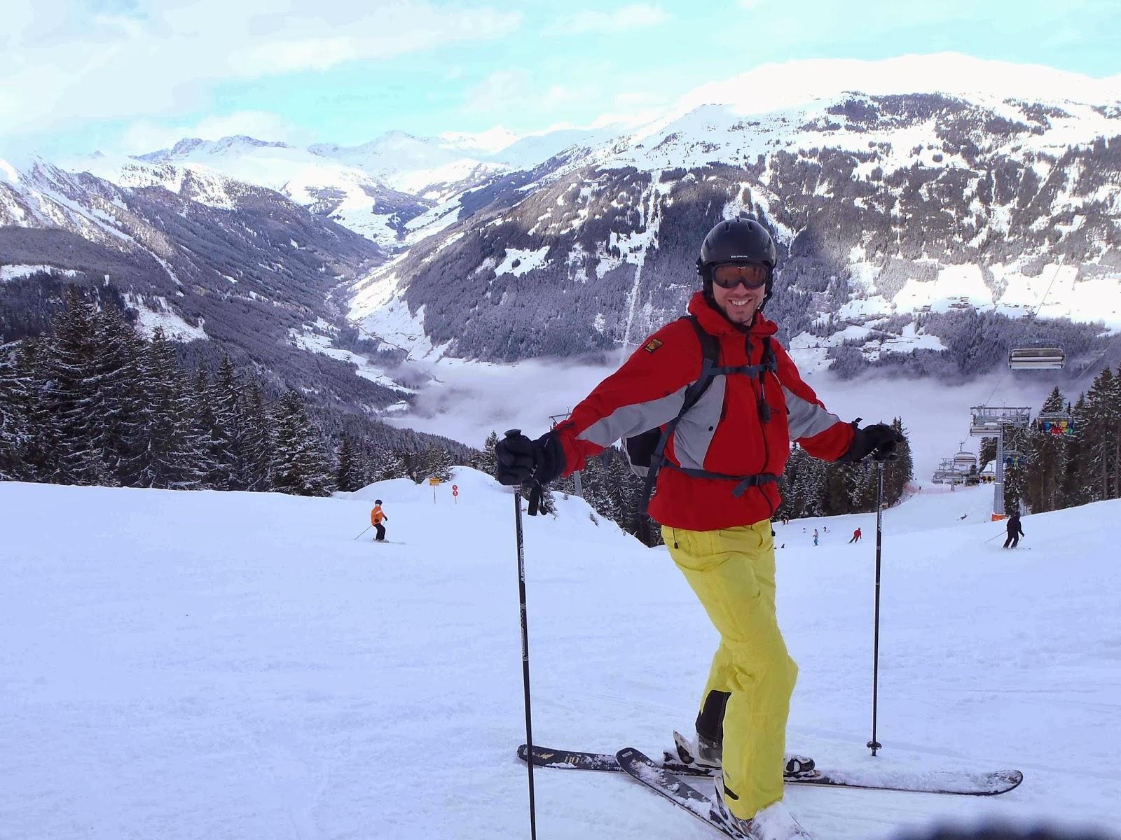 Simon Heyes skiing in Mayrhofen, Zillertal, Austria
