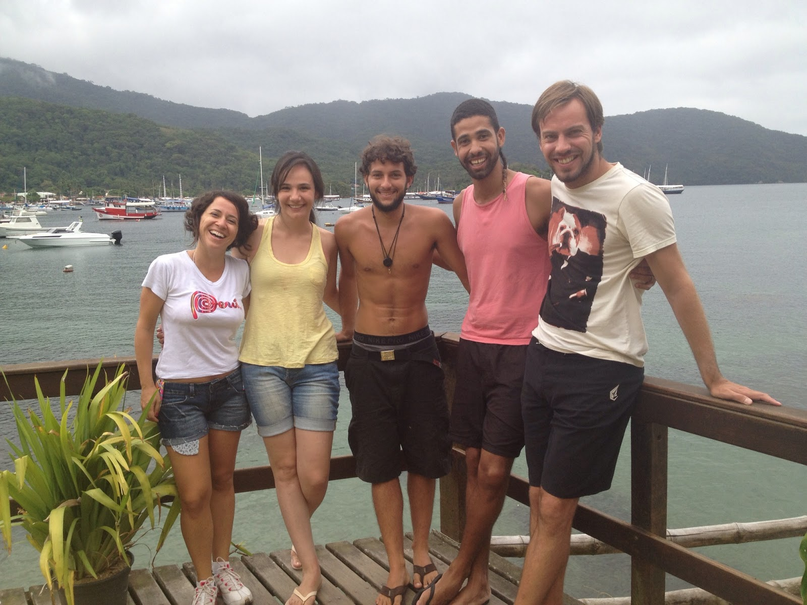 Team Brazil, France and England on the stunning island of Ilhe Grande