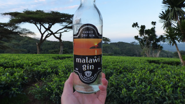 A bottle of Malawi gin - one part of the local Malawi Gin & Tonic (MGT)