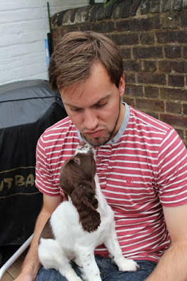 Simon and Rufus as a puppy