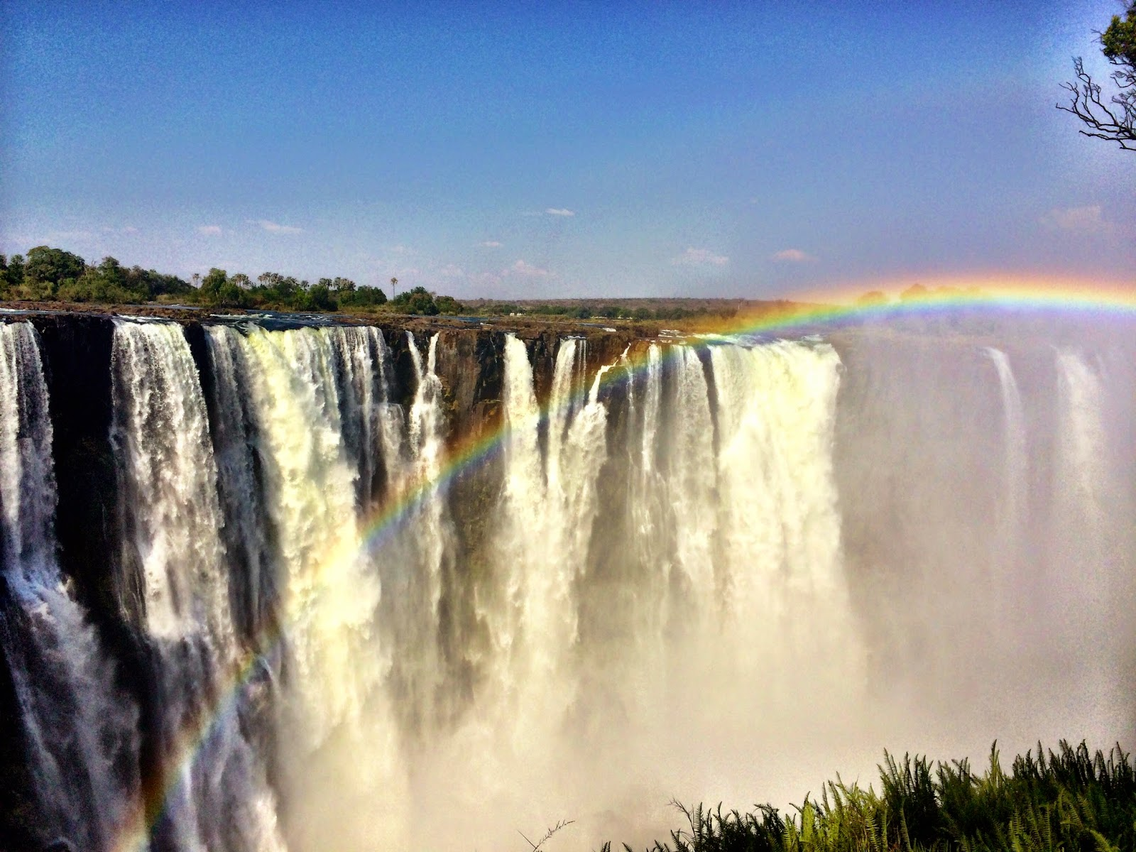 A rainbow over Victoria Falls, Zimbabwe (October 2014)