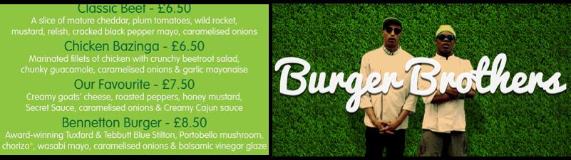 Burger Brothers, Brighton - Venue and Menu