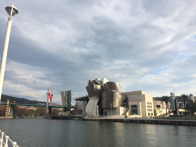The Guggenheim museum from across the river - Bilbao