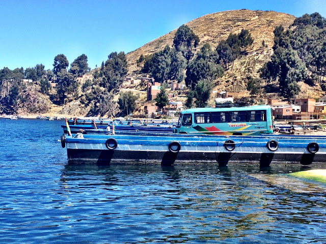 Ferry crossing between Copacabana and La Paz