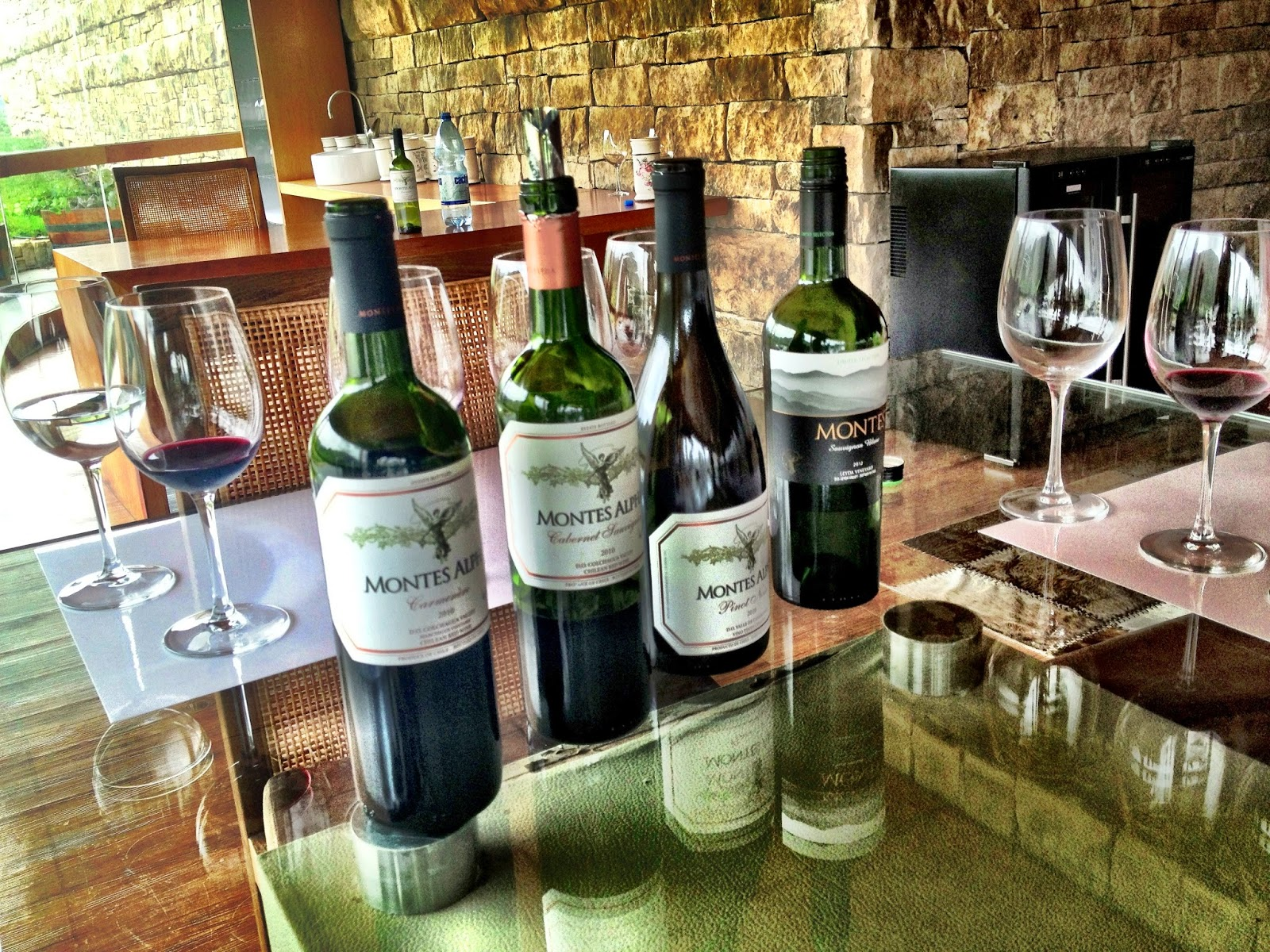 A selection of the Montes wines