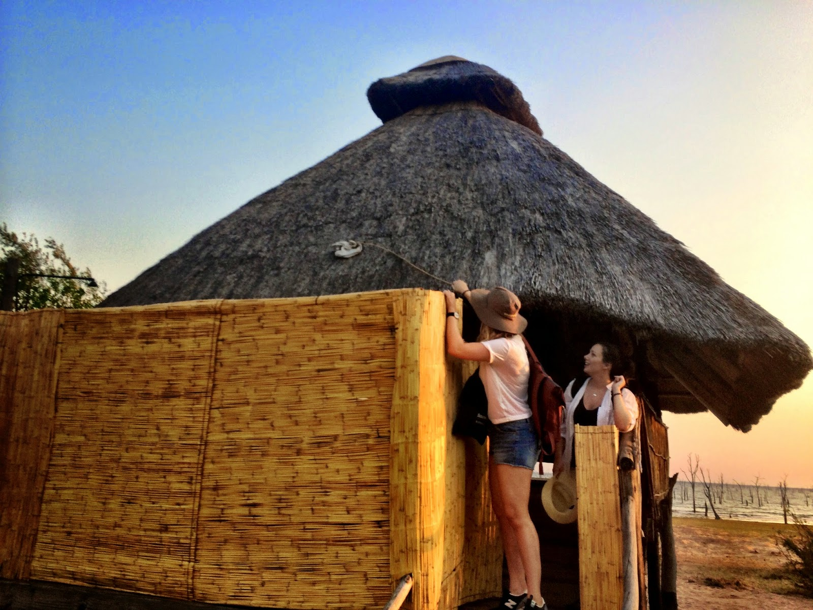Bikini bottoms on the roof - Rhino Safari Camp