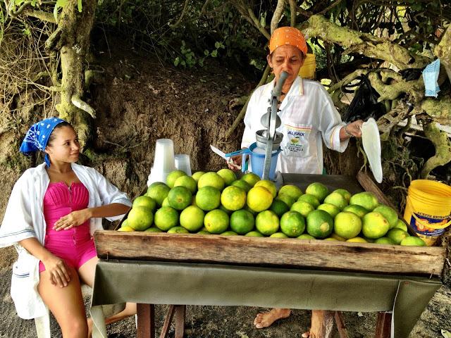 Fresh orange juice at La Piscina beach, Tayrona National Park