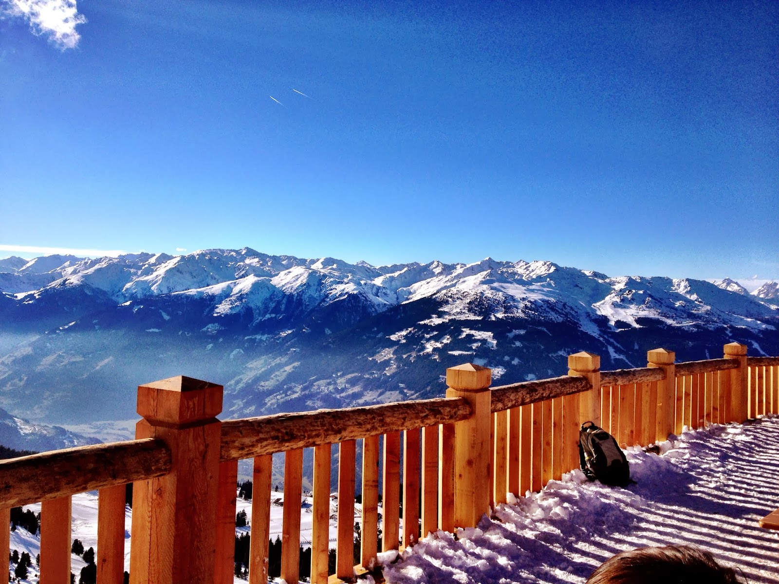 The view of the Alps during lunch