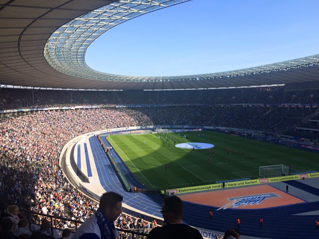 Hertha Berlin playing at the Olympiastadion in Berlin, 2015