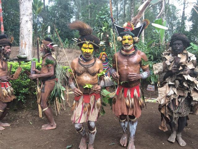 A tribal spirit dance in Hela Province, Papua New Guinea