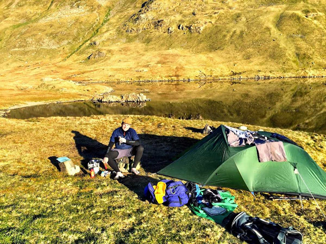 A wild camping kit explosion - Grisedale Tarn, Lake District