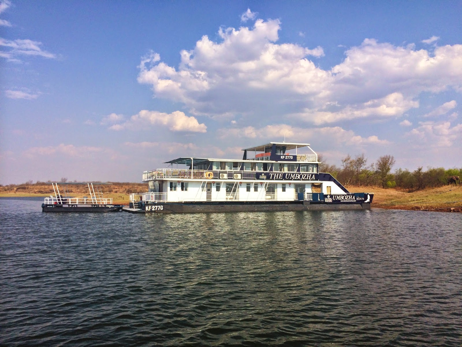 Umbozha - our Lake Kariba houseboat