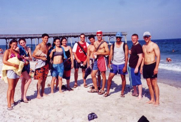 The UNCW International house crew - Wrightsville Beach - 2002