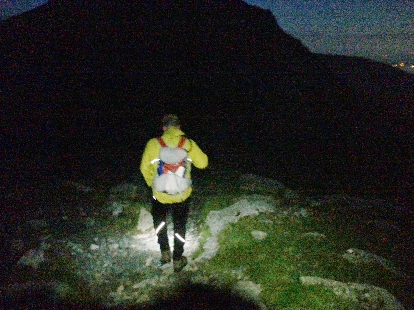 Navigating the terrain in the dark - 24 peaks challenge near Nethermost Pike