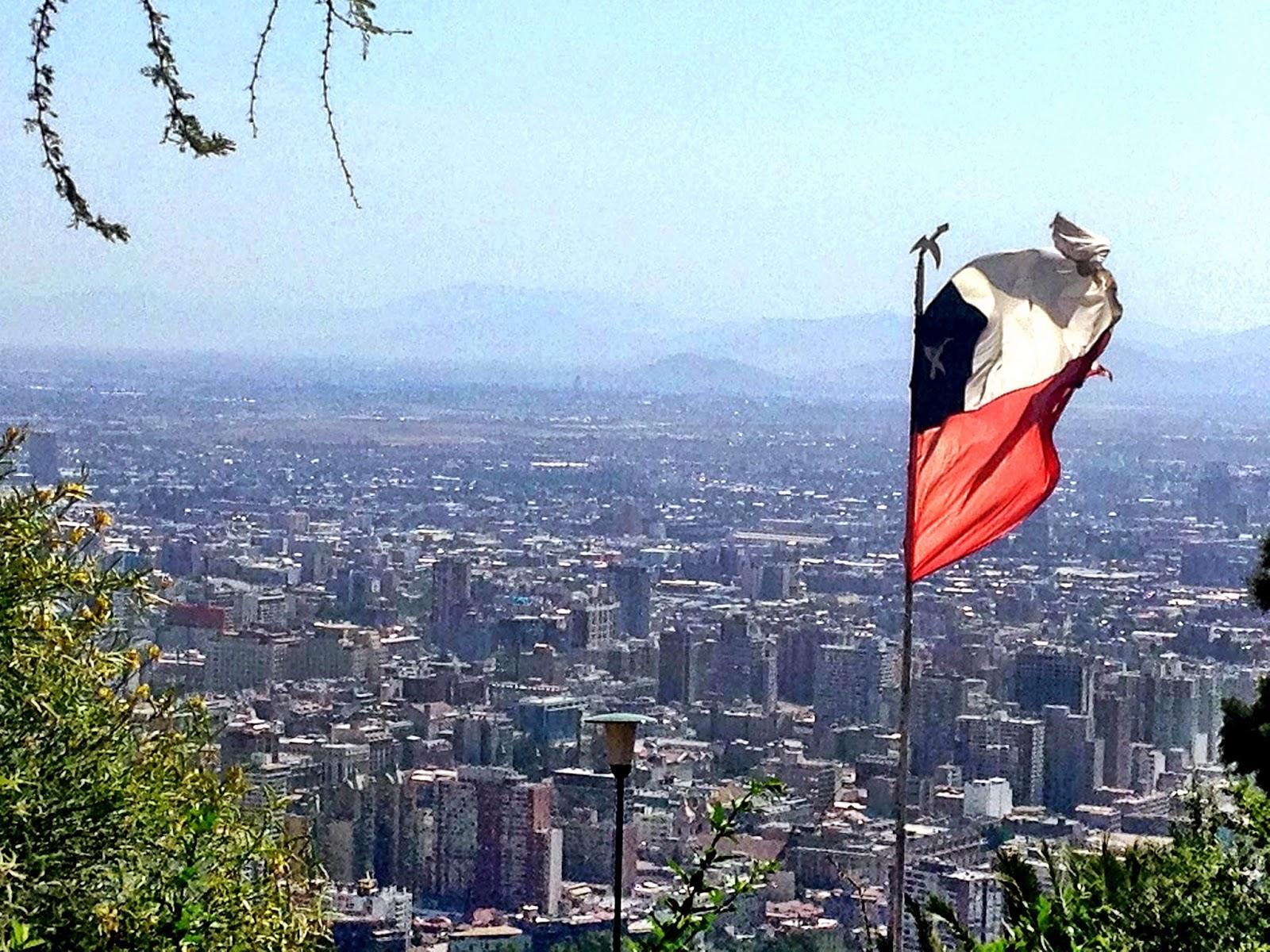 The view from Cerro San Cristobal, Santiago