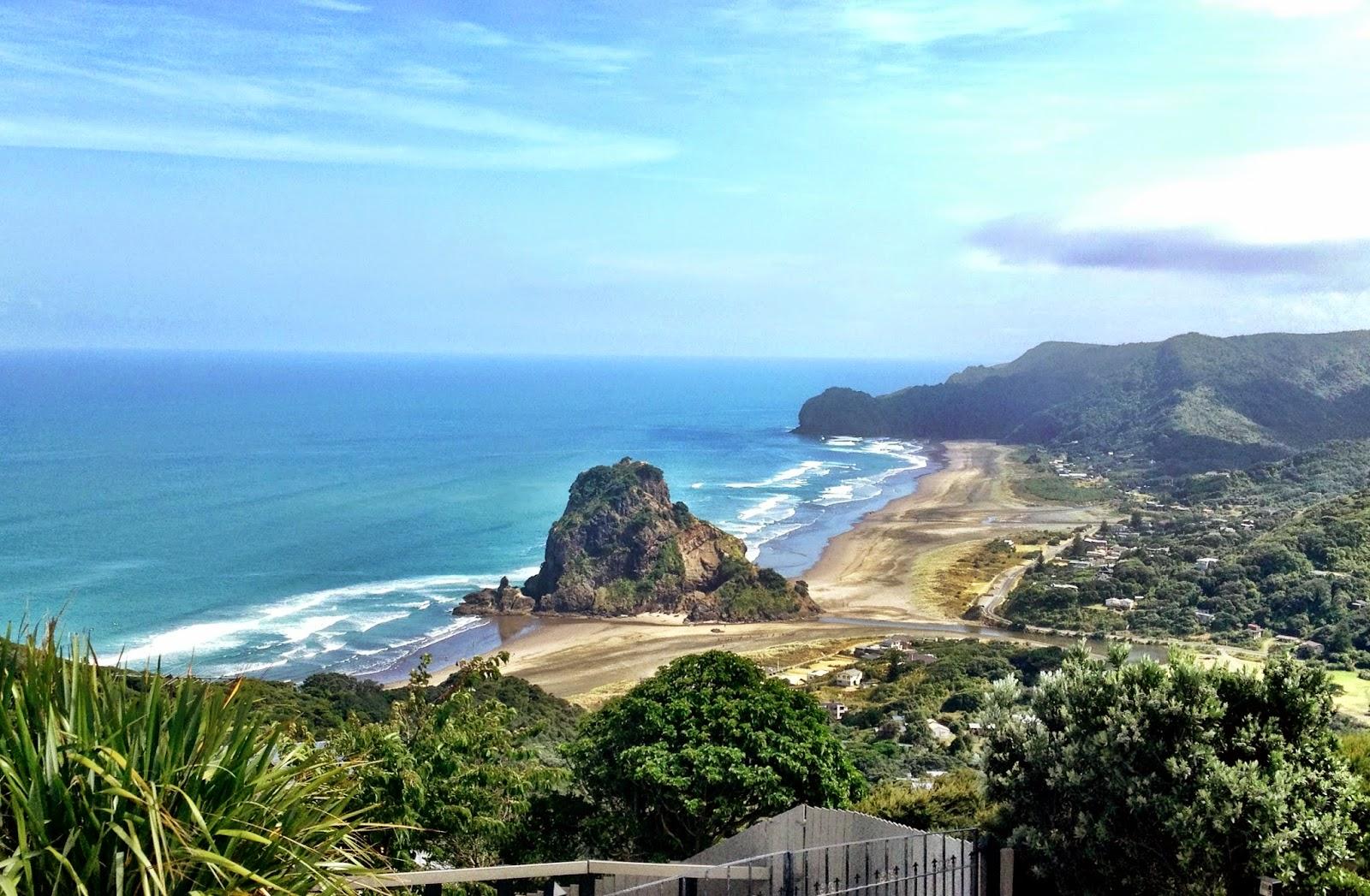 View of Piha Beach, Auckland