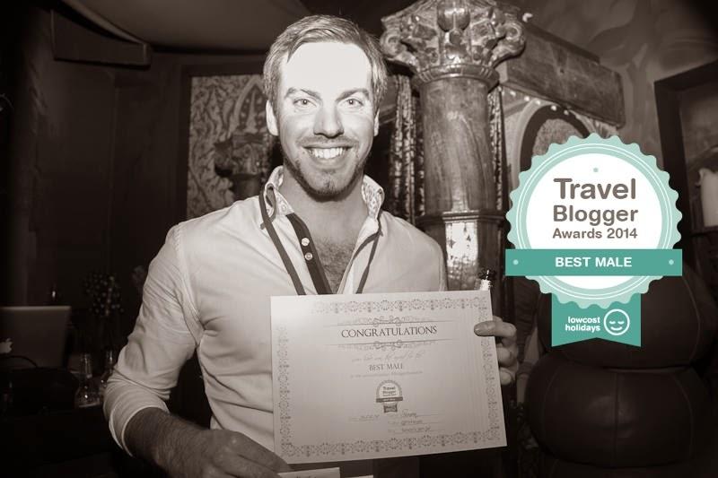 Simon Heyes - Simon's JamJar Wins Best Male - Blogger Awards 2014