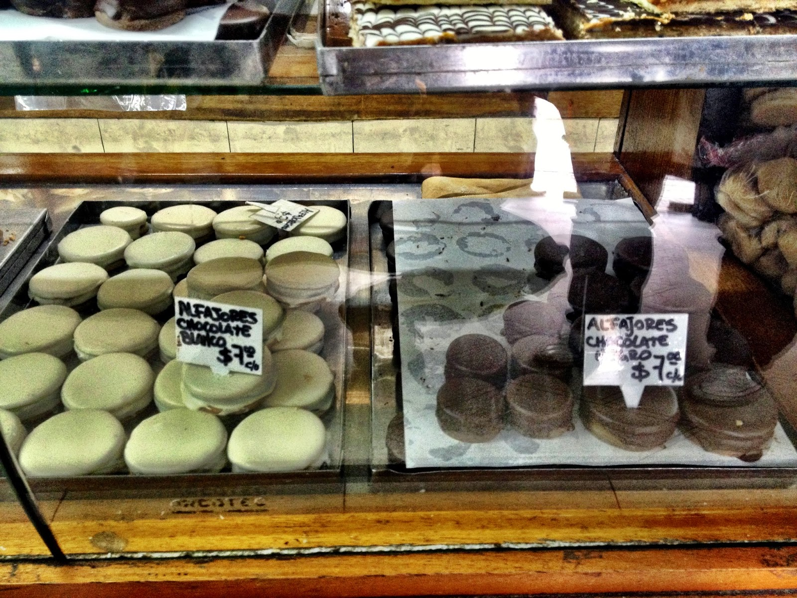 Alfajores in a bakers in Buenos Aires