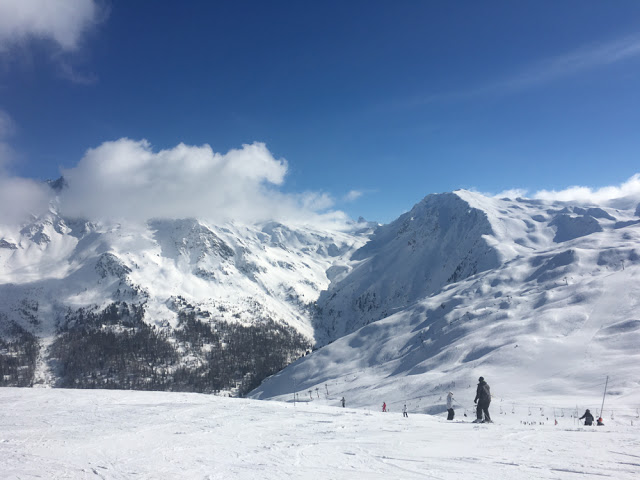 High altitude skiing in Les Arcs, France