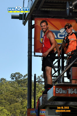 Standing ready to bungy jump