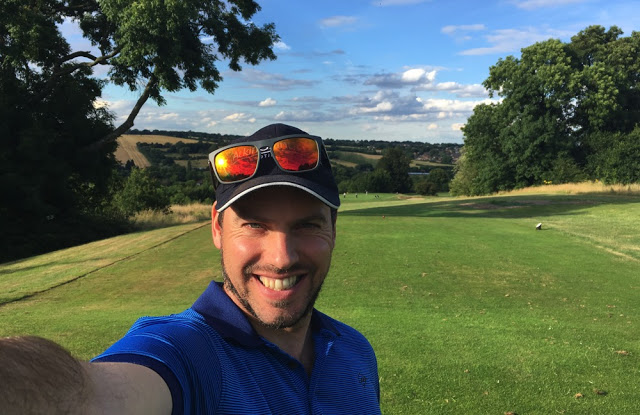Simon Heyes on the golf course - microadventure ideas