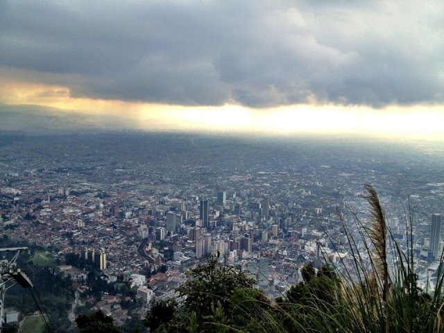 View of Bogota from the top of the Monserrate